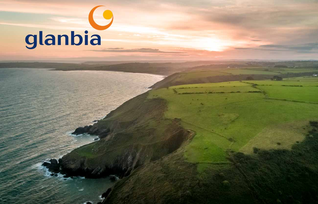 Irish coastline photogrpahed by drone