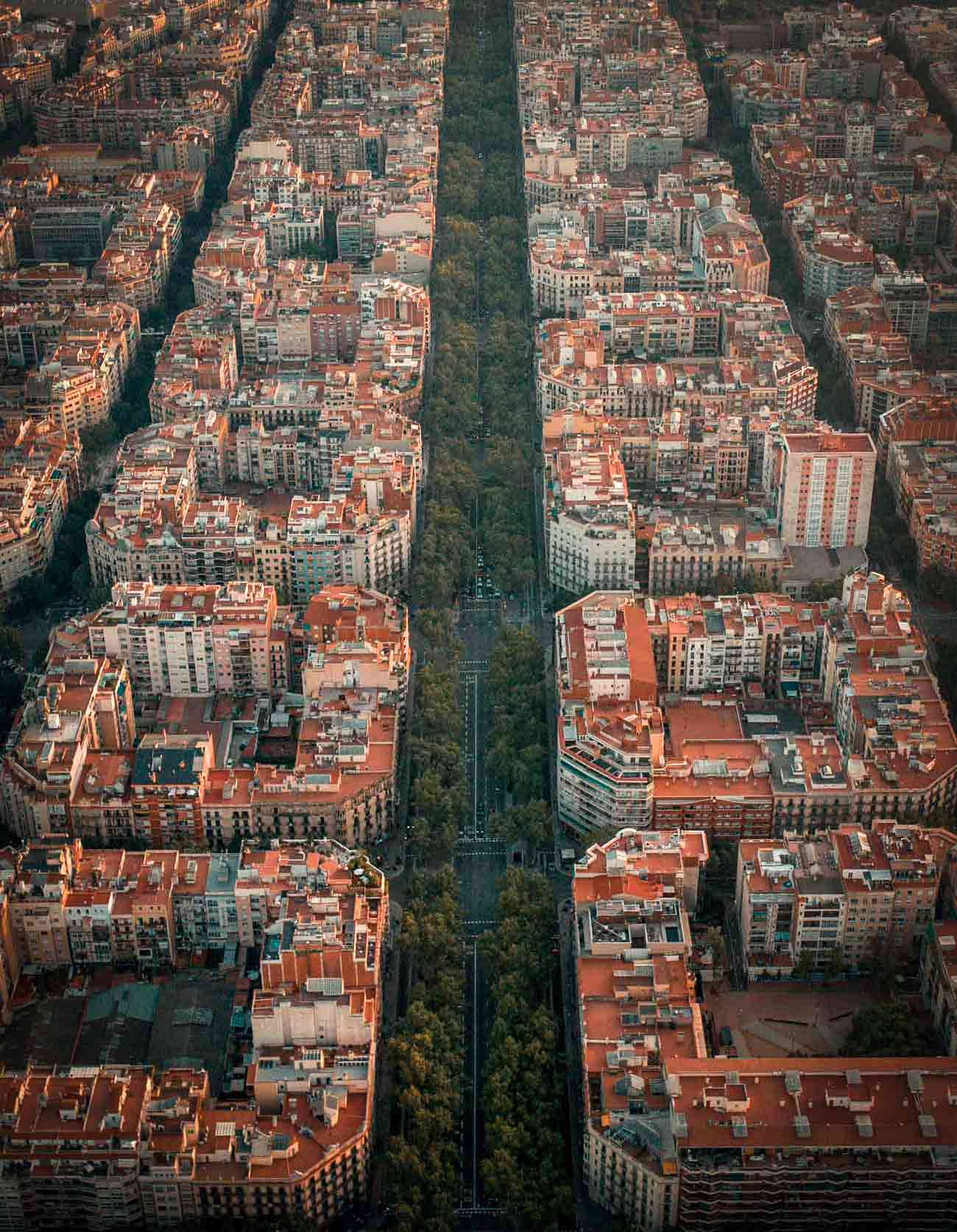 drone photo of barcelona