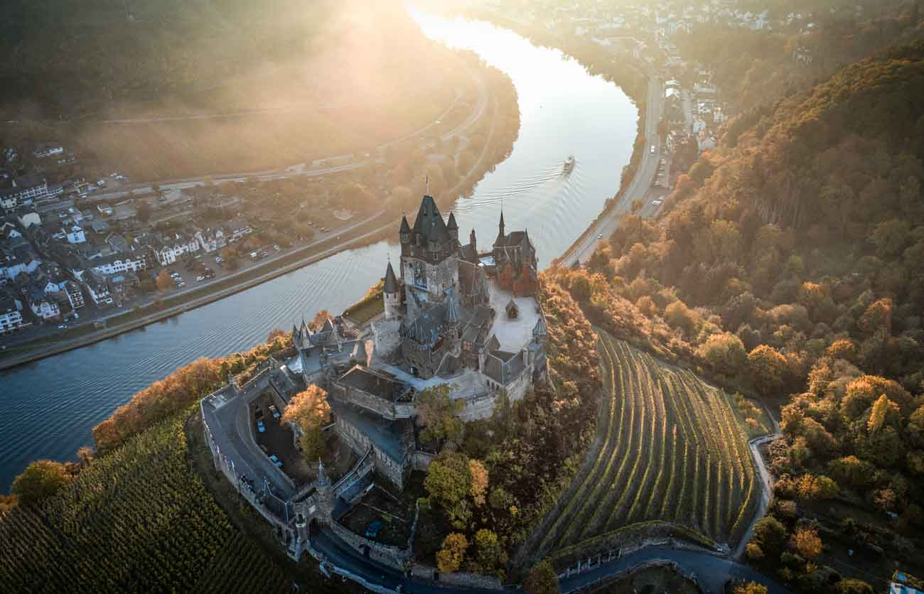 castle in Germany aerial drone photo