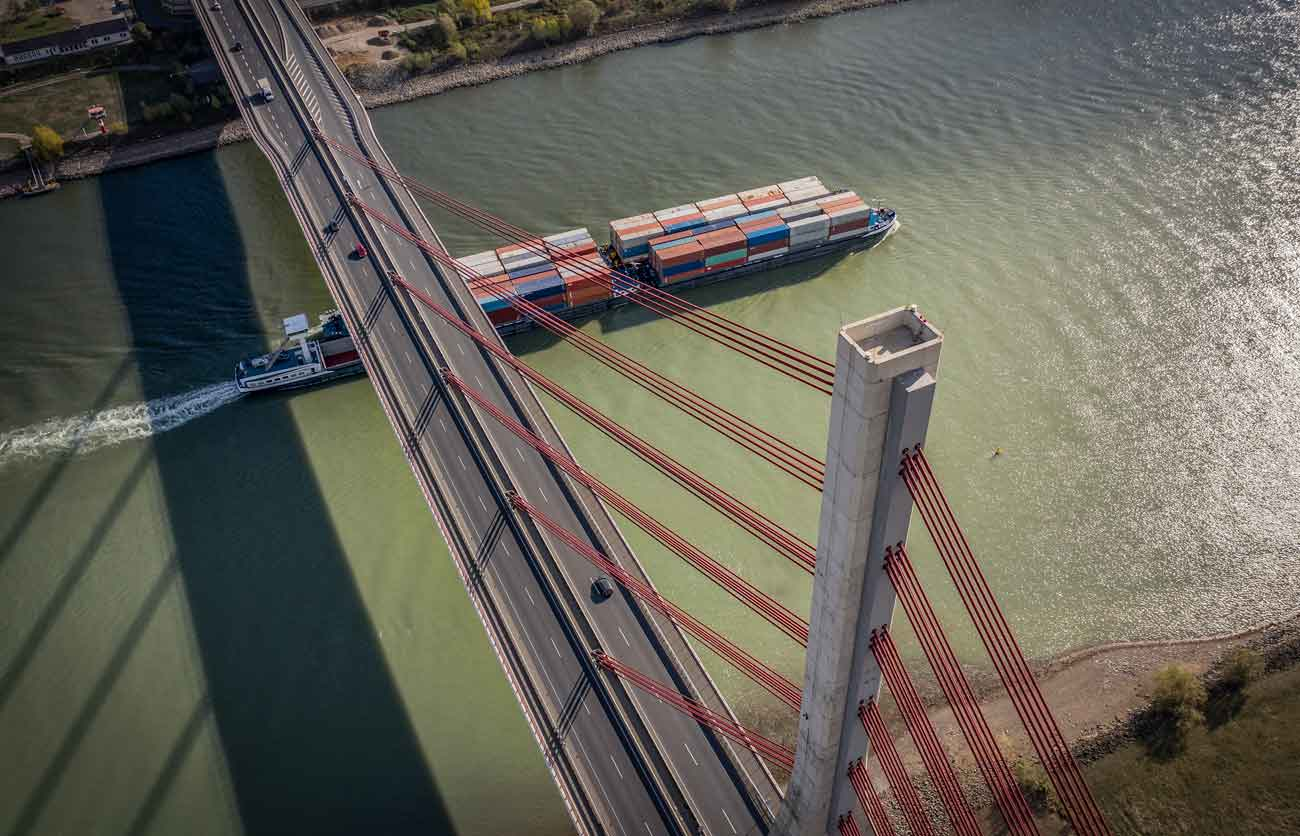 international shipping and logistics theme drone photo