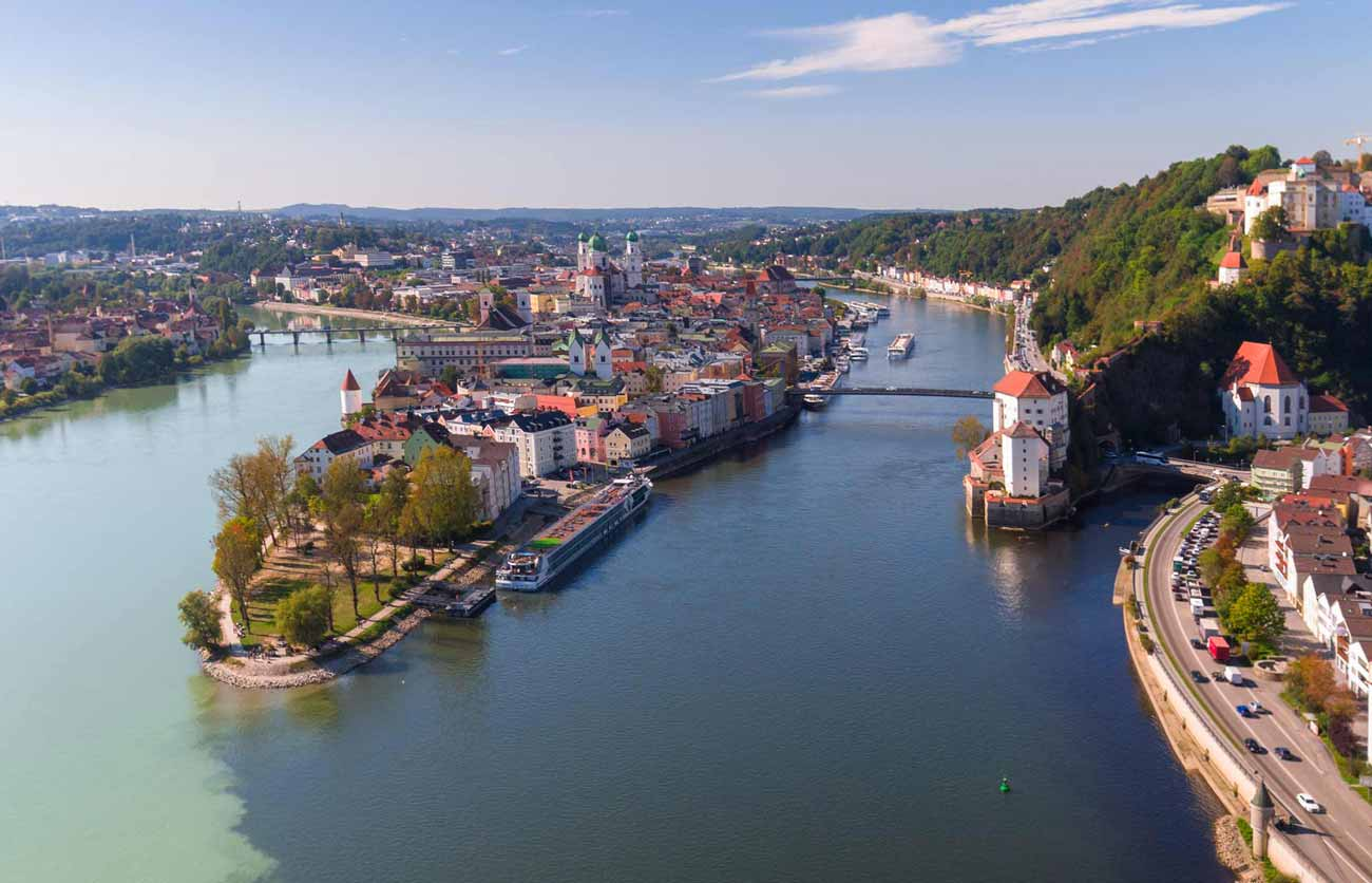 Passau germany aerial photograph