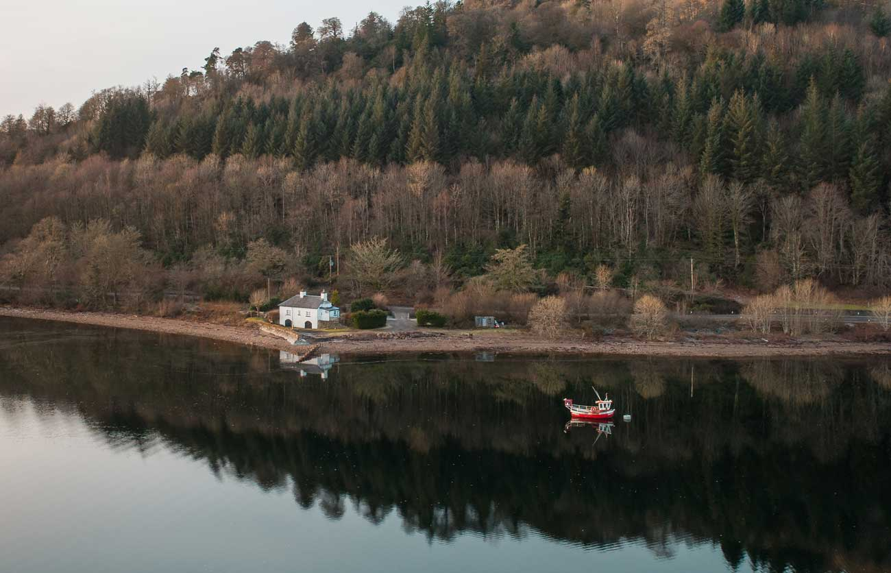 canoeists adventuring drone photograph