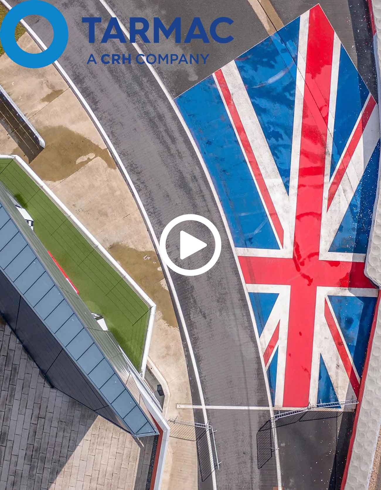bird's eye view of silverstone podium drone photo