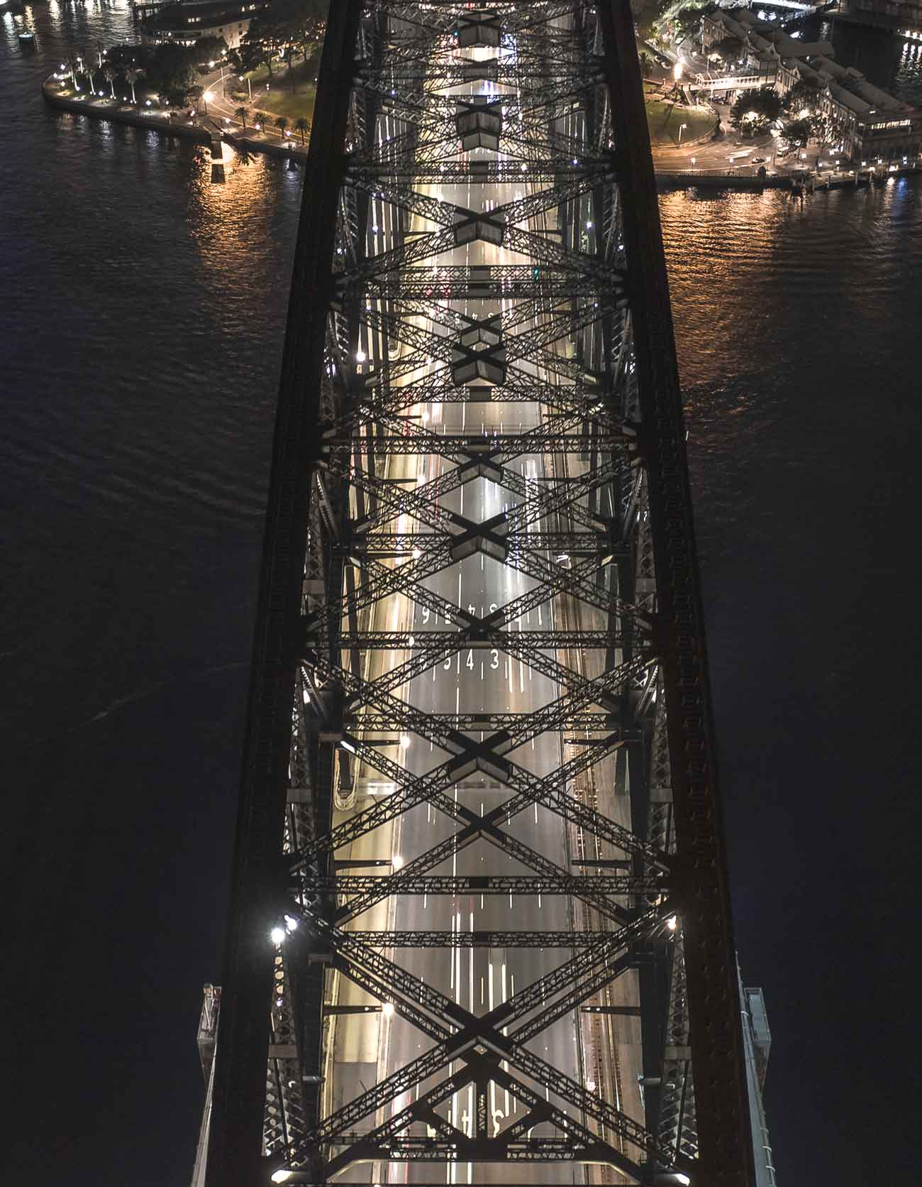 Sydney Harbour bridge drone photo