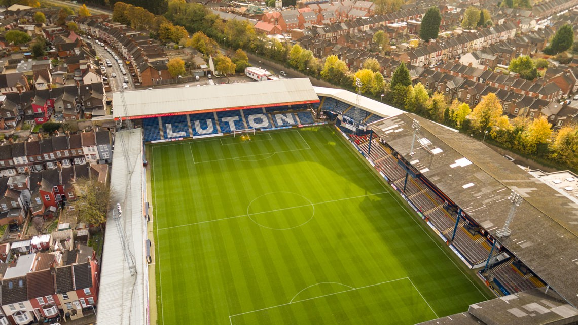 Luton Town Football Club aerial photograph