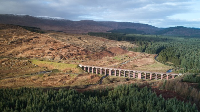 viaduct drone scotland